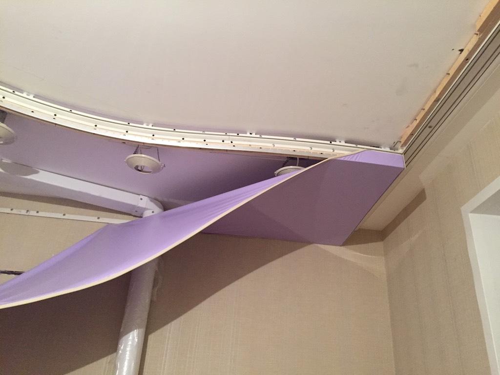 как делают двухуровневые натяжные потолки фото правда ли