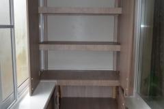 Встроенный шкаф балкона с выносом