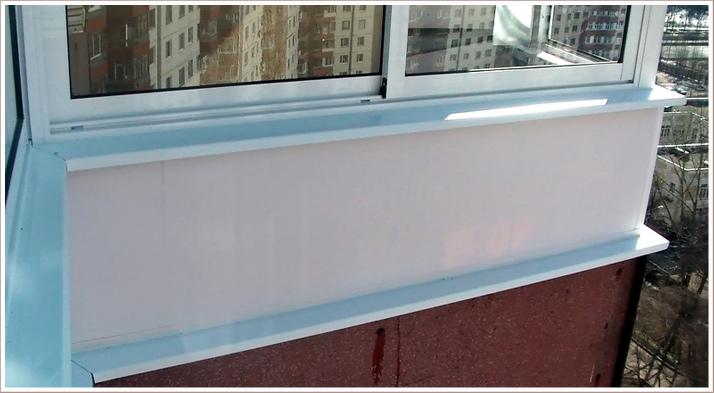 Как сделать отлив на балконе